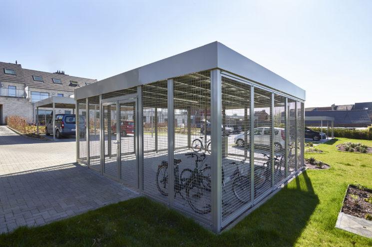 Carport met fietsenstalling – Buizingen